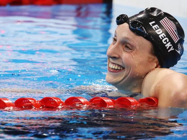Katie Ledecky became the first woman since 1968 to win 200, 400 and 800 in a single Olympics.