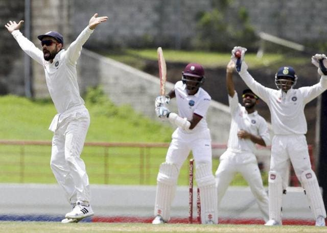 India batsman Lokesh Rahul was dismissed for 28 runs in the second innings.