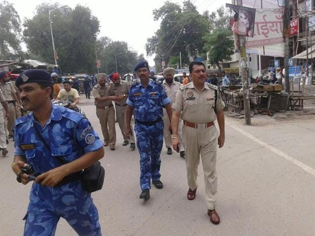 Security beefed up in the region on Sunday.