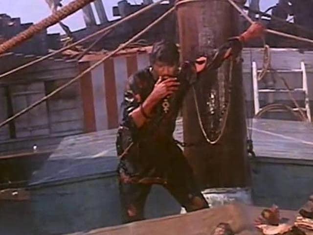 Actor Manoj Kumar in a still from the film Kranti.