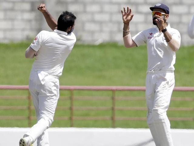 India took an unassailable 2-0 lead in the four-Test series against West Indies after winning the third Test by 237 runs on Saturday, with Mohammed Shami taking three wickets.