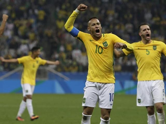 The match was reminiscent of the physical encounter between the two sides at the Fifa World Cup two years back, with Neymar getting a yellow card.