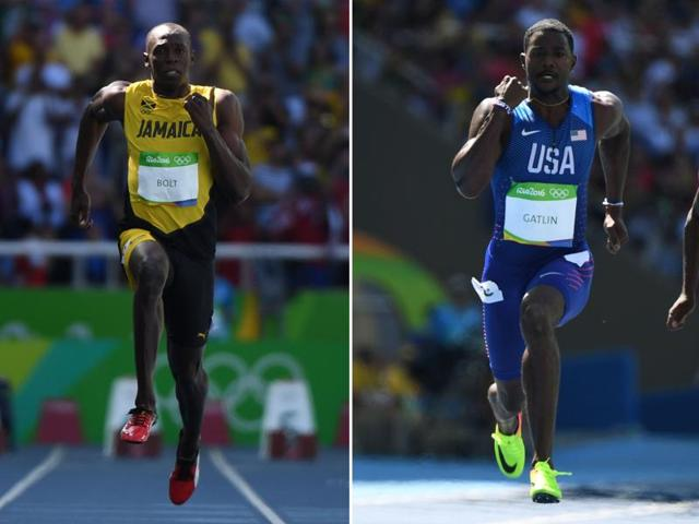 Usain Bolt (centre) comes into the Olympics with a 9.88 sec 100m run and 19.89 sec in the 200m in London last month, which his coach Glen Mills was dismissive of.