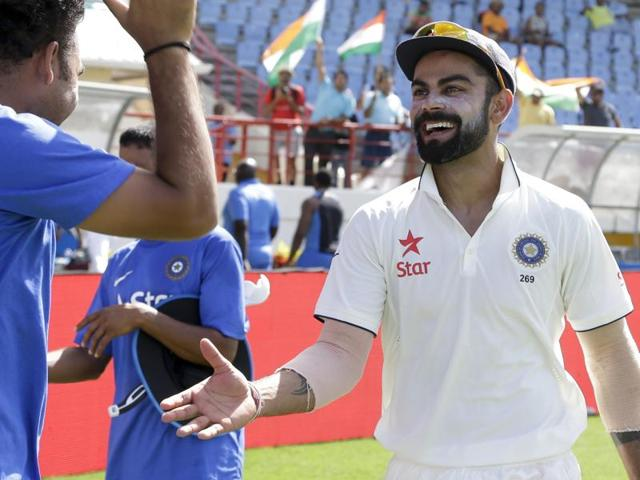 Virat Kohli became the first Indian skipper to win more than one Test in West Indies when India defeated the Caribbeans in the third Test in Gros Islet, St. Lucia, on Saturday.