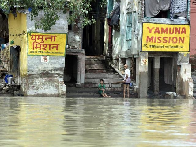 """Delhi water minister Kapil Mishra said due to the water level nearing the """"danger mark"""", few people had to be shifted from north Delhi's Burari."""