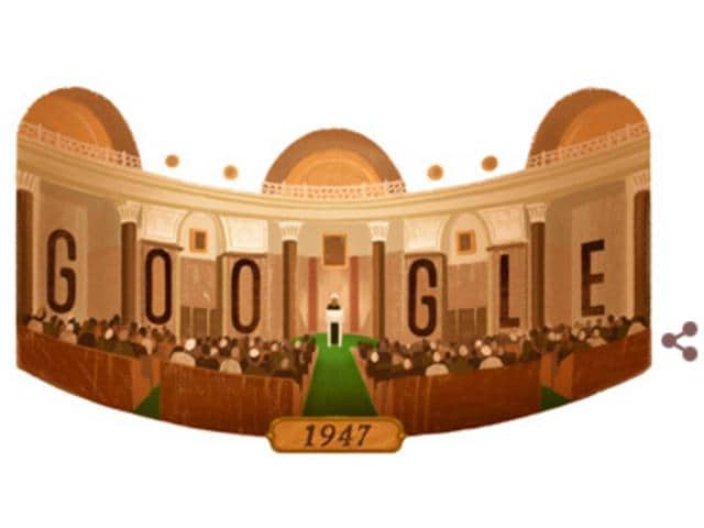 Google Doodle on 70th Independence Day.
