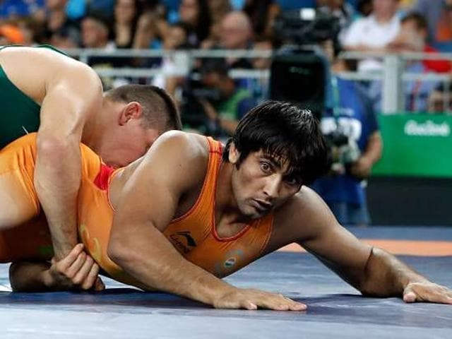Afile photo of Indian wrestler Ravinder Khatri.