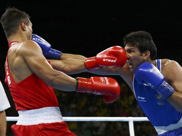 Fazliddin Gaibnazarov of Uzbekistan was too much for India's Manoj Kumar to handle.