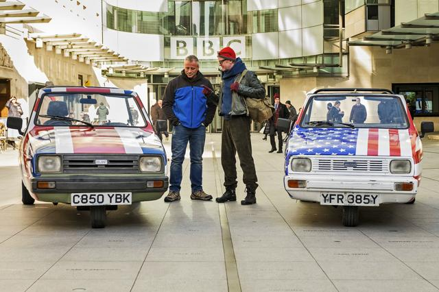 Chris Evans, right, has left the show, leaving the BBC scrambling to find a new partner for US actor and Matt LeBlanc.