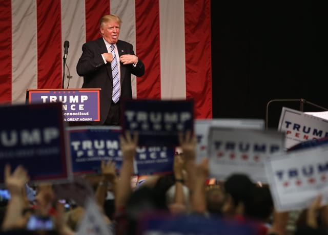 Trump, seen here addressing supporters on August 13, 2016 in Fairfield, Connecticut, will also lay out proposals to prevent terrorist attacks in the US.