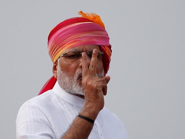 PM Narendra Modi addresses the nation on 70th Independence Day.(REUTERS)