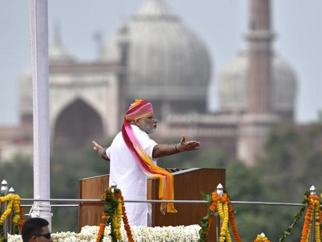 PM Modi addresses the nation on the occasion of 70th Independence Day from the ramparts of Red Fort.