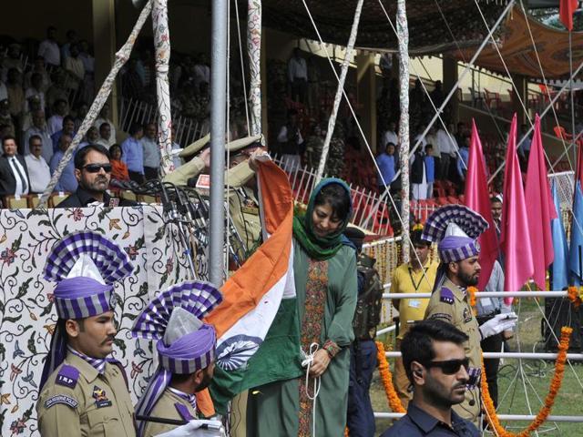 Kashmir violence,Mehbooba Mufti,Mehbooba Mufti flag'