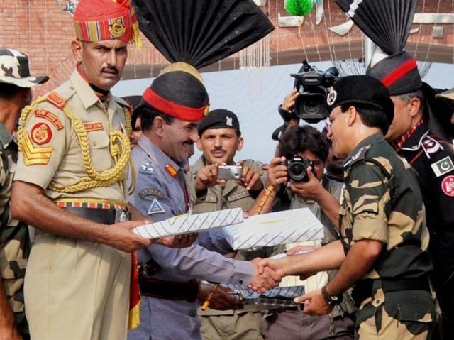 Pak Rangers,BSF,Attari-Wagah border