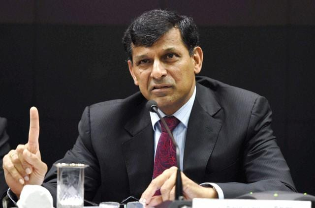 Rajan at a press conference after his last monetary policy review at the RBI headquarters in Mumbai on Tuesday.