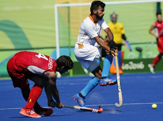 Players from India stayed on the pitch a little longer after they lost to Belgium in the men's hockey quarterfinal. their coach Roelant Oltmans felt the 1-3 loss came down to a lack of experience.