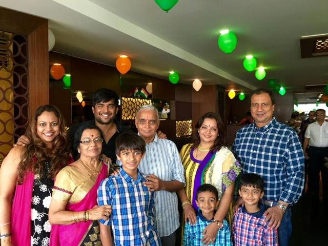 Last week, R Madhavan travelled to Chennai to celebrate his father's 75th birthday.