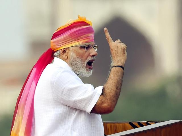 Prime Minister Narendra Modi's comments were widely seen as a riposte to Pakistan's adoption of a hardline stance on the Kashmir issue.