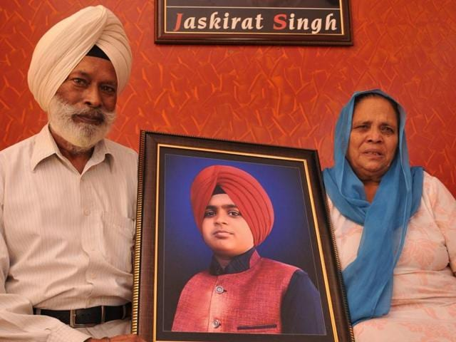 Kapurthala industrialist Baldev Singh and his wife, Bachan Kaur, holding on to the memories of their murdered grandson Jaskirat Singh.
