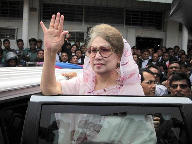Bangladesh Nationalist Party leader and former prime minister Khaleda Zia. A small delegation representing the party is visiting Delhi in a bid to improve ties with India.