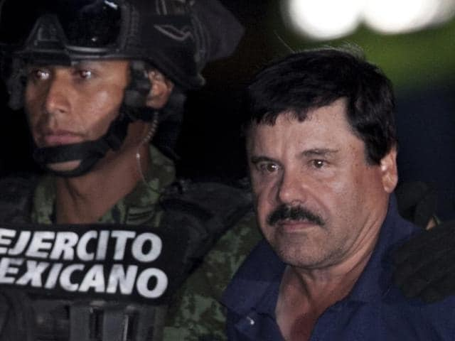 The son of imprisoned drug lord Joaquin 'El Chapo' Guzman, right, may be among the half-dozen men abducted by gunmen in Puerto Vallarta.