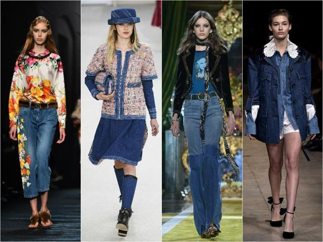 For fall 2016, designers and big brands have decided to take denim in an unexpected direction either by combining it with other fabrics or using it for unusual pieces such as long coats.
