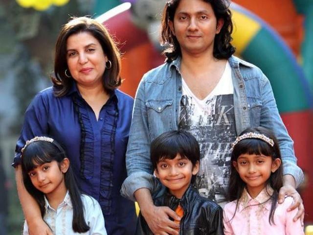 Farah has three children with husband Shirish Kunder- daughters Diva and Anya and son Czar.