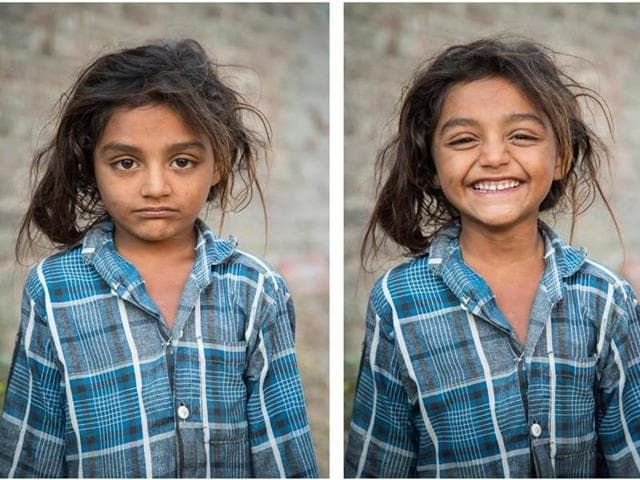 """""""She was playing outside her home in the Village of Kakhsar, Gujarat"""""""