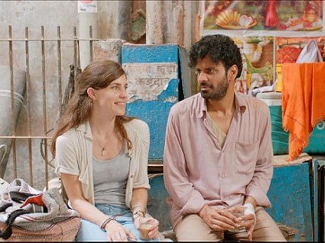 Manoj Bajpayee and Laura Verlinden in a still from In The Shadows. (Loudspeaker Media)