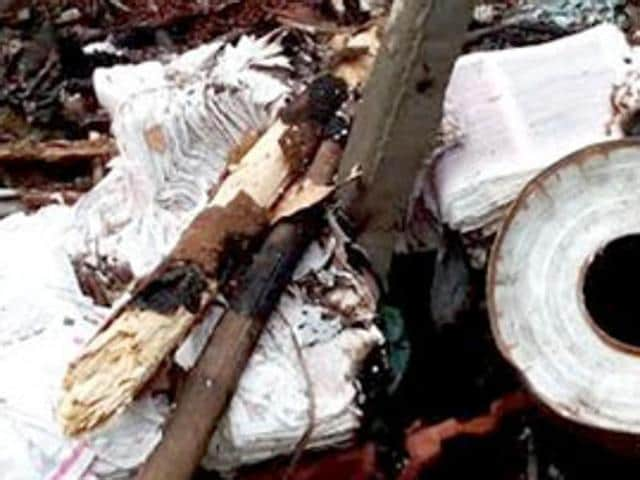 Two people were charred to death and another four injured when the raw materials used in preparation of crackers exploded in Andhra Pradesh.
