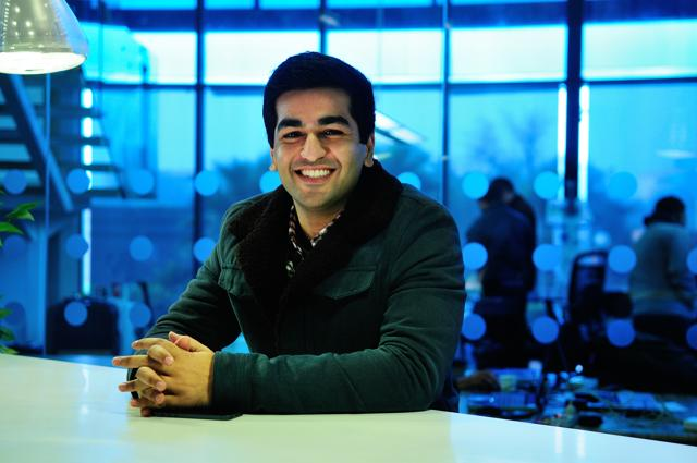 Kavin Bharti Mittal, son of Airtel's Sunil Mittal in his office in Gurgaon. His startup, Hike Messenger has raced to a $1.4 billion valuation within 3 years of inception.