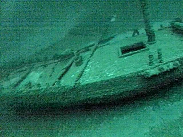 This July 16, 2016, photo taken from underwater video shows the