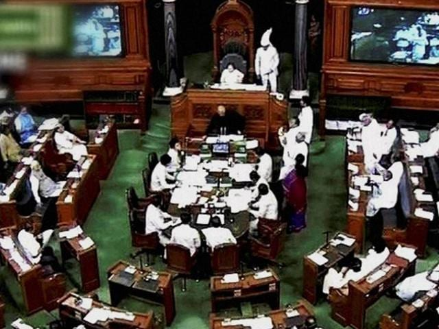 A general view of the proceedings in the Lok Sabha during the monsoon session.