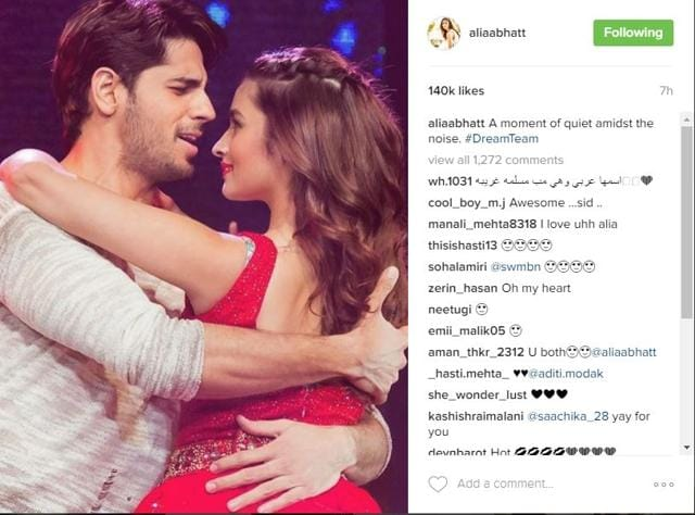Alia Bhatt's recent upload with Sidharth Malhotra has led to speculation that the actor has confirmed her relationship with him.