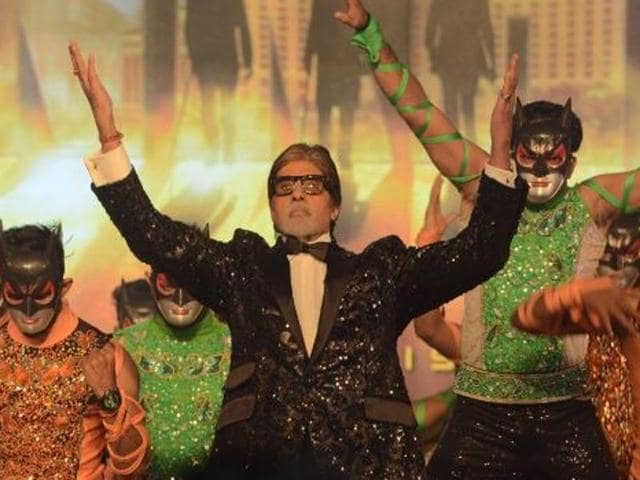 Amitabh Bachchan at the announcement for Aankhen 2.