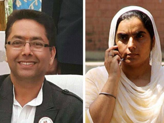 Aman Arora (left) and Baljinder Kaur.