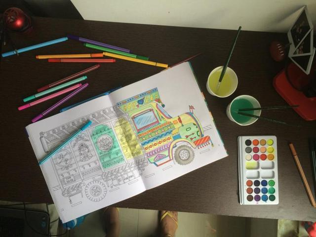 An illustration of a truck from Around India in 40 Doodles