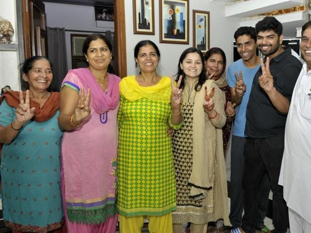 Sakshi Malik's family had no sweets to offer after she won bronze at the Rio Olympics early on Wednesday.