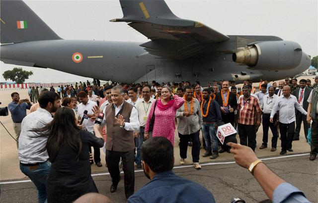 Operation Sankat Mochan  brought back 156 civilians from Juba in a C-17 Globemaster.