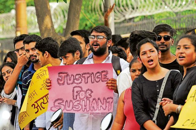 Amity University students in Noida, India on Tuesday.
