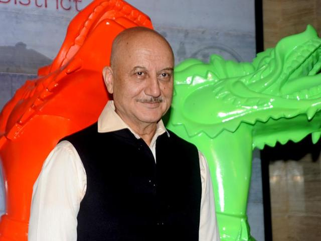 Actor Anupam Kher will return to TV with a show that showcases lives of historical figures.(AFP)