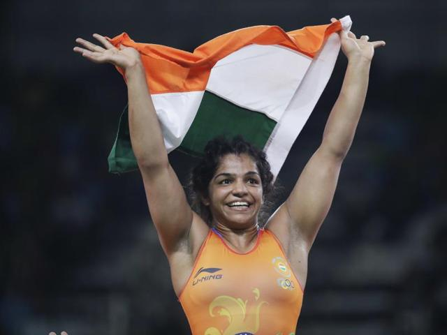 Sakshi Malik became the first woman wrestler from India to bag an Olympic medal.