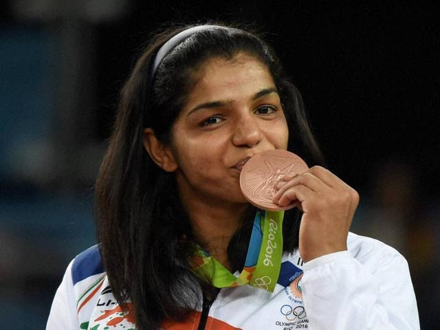 Sakshi Malik is the first female wrestler from India to win an Olympics medal.(REUTERS)