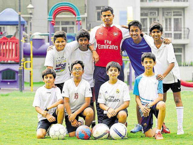 FC Grand Omaxe, a junior football team from Sector 93B, are first-time participants in the Hindustan Times Great Indian Football Action.