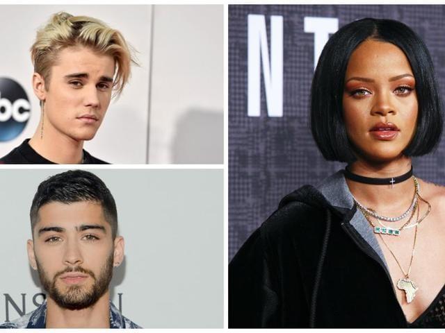 Justin Bieber,Adele,Zayn Malik