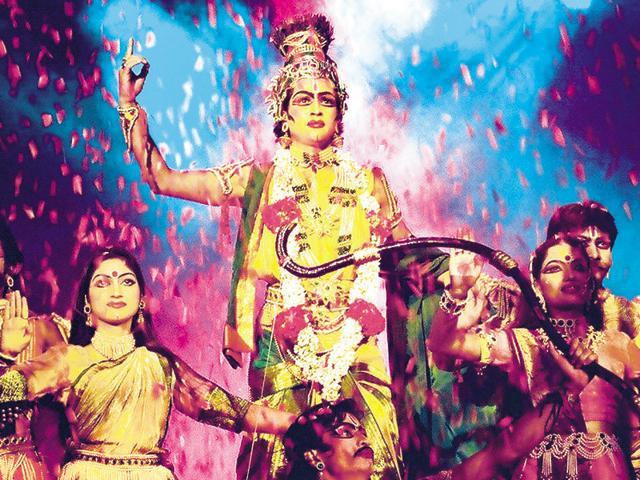 Scenes from the Shriram Bharatiya Kala Kendra's musical dance-drama, Krishna.