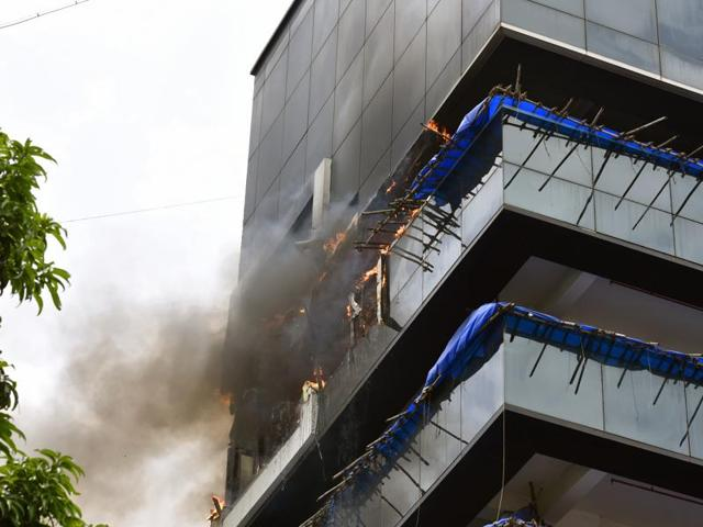 The fire started on the sixth floor of the building at Bandra's Linking Road on Friday afternoon.