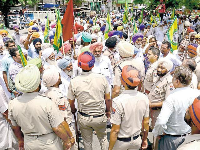 Farmers from Bathinda, Mansa, Faridkot, Muktsar, Fazilka, Moga and Sangrur have been protesting for the past two months now.