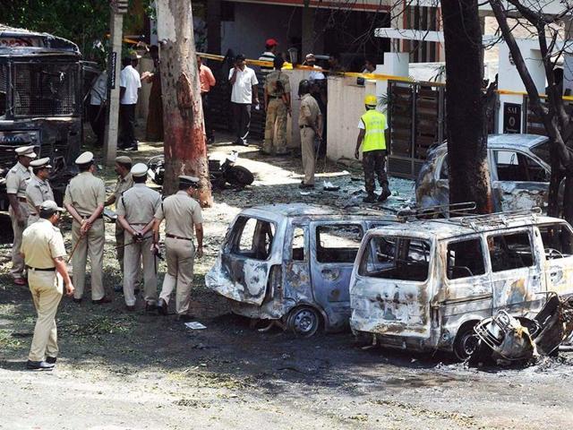 BJP office blast
