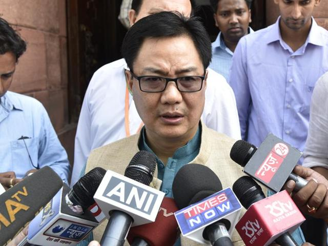 India has requested Myanmar to take action against the insurgent groups taking shelter in that country, Union minister of state for home Kiren Rijiju said on Friday.